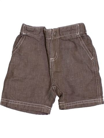 Short - Bermuda garçon PETIT BATEAU marron 6 mois été #1386774_1
