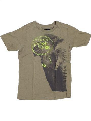T-shirt manches courtes garçon YCC-214 marron 5 ans été #1386882_1