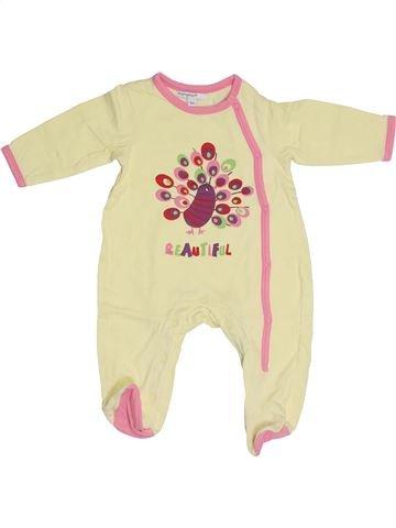 Pyjama 1 pièce fille PREMAMAN jaune 3 mois été #1387269_1