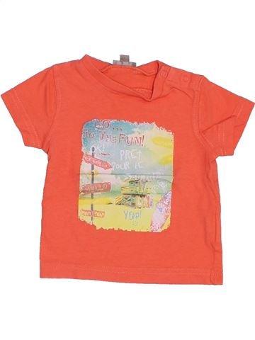 T-shirt manches courtes garçon GENERATION Z orange 3 mois été #1387466_1