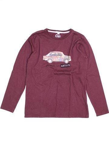 T-shirt manches longues garçon MARÈSE violet 14 ans hiver #1389195_1