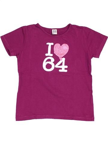 T-shirt manches courtes fille 64 violet 12 ans été #1390367_1