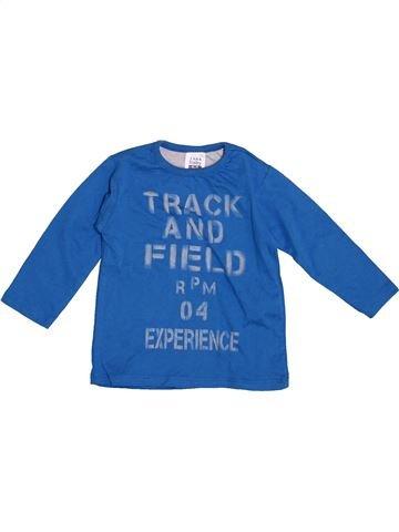 T-shirt manches longues garçon ZARA bleu 9 mois hiver #1391024_1