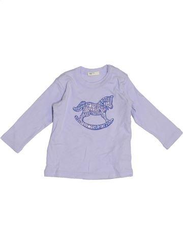Camiseta de manga larga niño BENETTON violeta 6 meses invierno #1391229_1