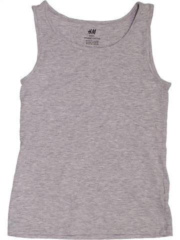 T-shirt sans manches fille H&M gris 10 ans été #1392313_1