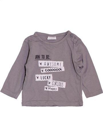 T-shirt manches longues garçon KIABI gris 3 mois hiver #1392333_1