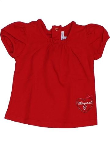 T-shirt manches courtes fille MAYORAL rouge 3 mois été #1392361_1