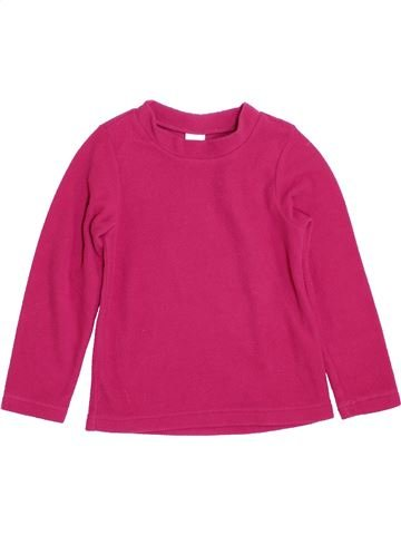 Pull fille QUECHUA rose 5 ans hiver #1392580_1