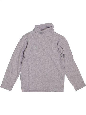 T-shirt col roulé garçon LH BY LA HALLE gris 5 ans hiver #1392706_1