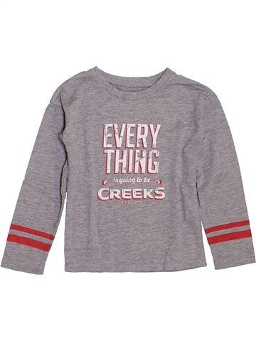 T-shirt manches longues garçon CREEKS gris 5 ans hiver #1392719_1