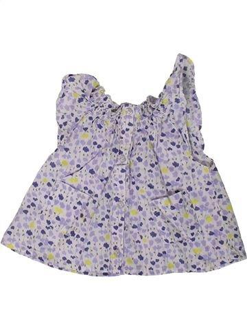 Blouse manches courtes fille KIABI violet 3 mois été #1393271_1