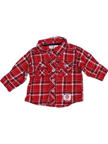 Chemise manches longues garçon PRENATAL rouge 3 mois hiver #1393782_1