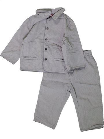 Pijama de 2 piezas niño DPAM gris 12 meses verano #1393916_1