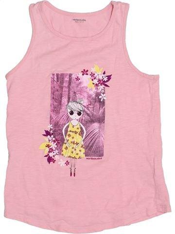 T-shirt sans manches fille VERTBAUDET rose 8 ans été #1394459_1