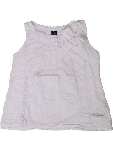 T-shirt sans manches fille TERRE DE MARINS blanc 2 ans été #1394476_1