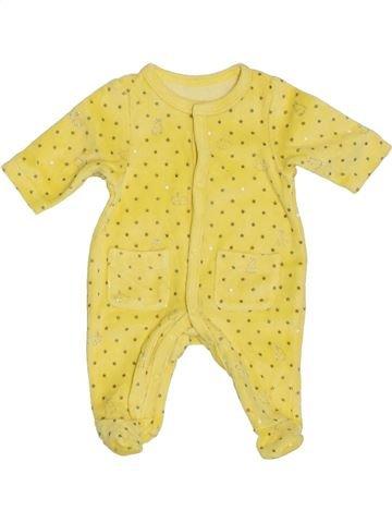 Pyjama 1 pièce fille VERTBAUDET jaune naissance hiver #1394579_1