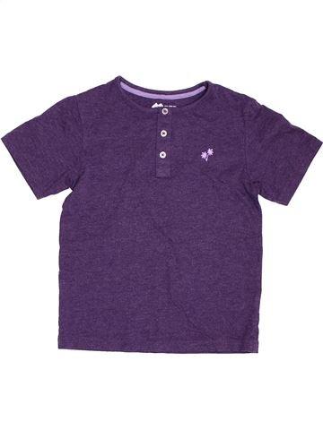 T-shirt manches courtes garçon TU violet 7 ans été #1394806_1