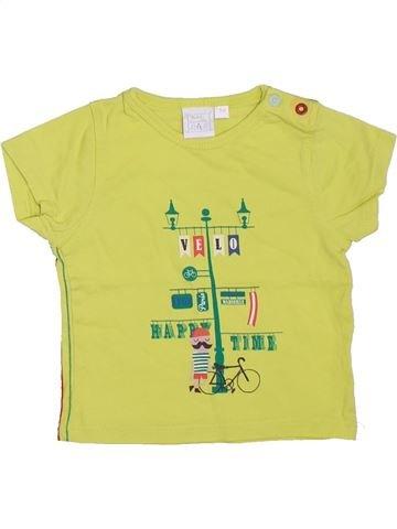 T-shirt manches courtes garçon CADET ROUSSELLE jaune 3 mois été #1395144_1