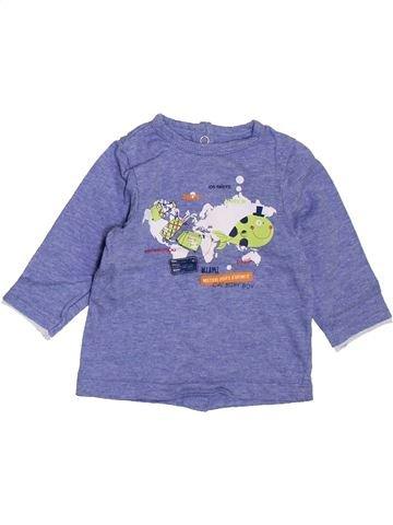 T-shirt manches longues garçon ORCHESTRA violet 3 mois hiver #1395147_1