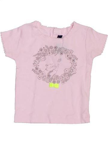 T-shirt manches courtes fille LILI GAUFRETTE rose 6 mois été #1395277_1