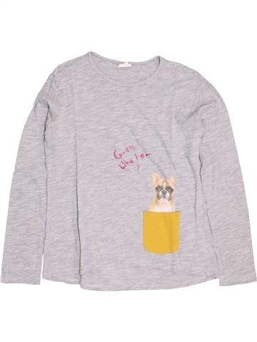 T-shirt manches longues fille ZARA blanc 14 ans hiver #1395289_1
