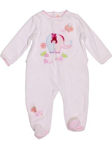 Pyjama 1 pièce fille GEMO rose 6 mois hiver #1396734_1