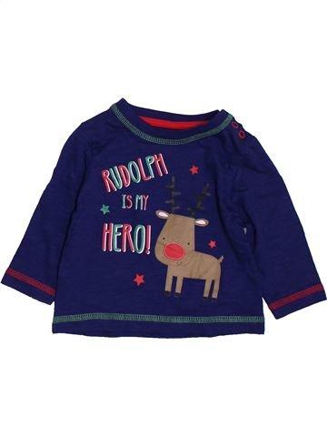 T-shirt manches longues garçon TU bleu 3 mois hiver #1397056_1