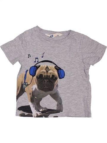 T-shirt manches courtes garçon H&M gris 2 ans été #1397322_1