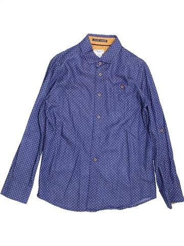 Chemise manches longues garçon CYRILLUS violet 10 ans hiver #1397413_1