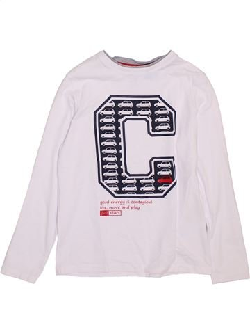 Camiseta de manga larga niño OKAIDI blanco 10 años invierno #1397420_1