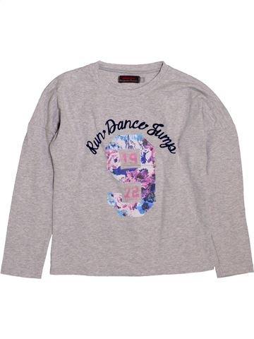 T-shirt manches longues fille CATIMINI gris 6 ans hiver #1397477_1