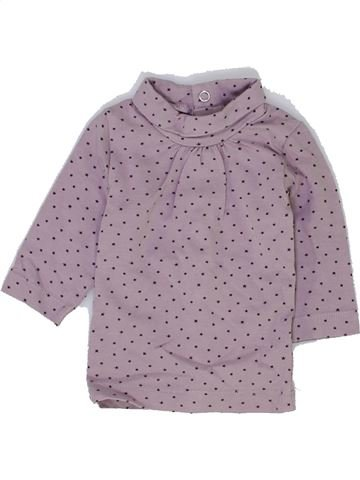 T-shirt col roulé fille KIABI violet 1 mois hiver #1397523_1
