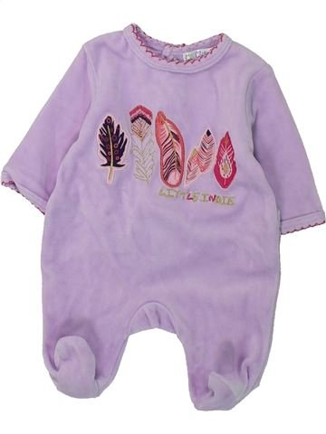 Pyjama 1 pièce fille KIABI gris naissance hiver #1397533_1