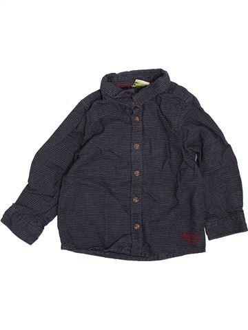 Chemise manches longues garçon TAPE À L'OEIL noir 18 mois hiver #1397634_1