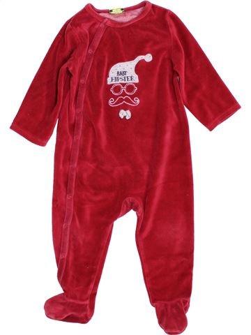 Pyjama 1 pièce garçon TAPE À L'OEIL rouge 12 mois hiver #1397650_1