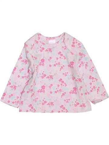 T-shirt manches longues fille C&A rose 1 mois hiver #1397678_1
