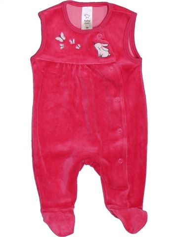 Pyjama 1 pièce fille C&A rose 1 mois hiver #1397679_1