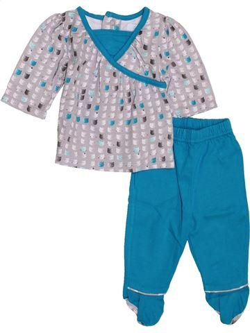 Pijama de 2 piezas niña OKAIDI azul 1 mes verano #1397680_1