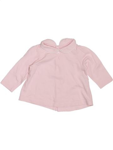 T-shirt manches longues fille BOUT'CHOU rose 1 mois hiver #1397691_1