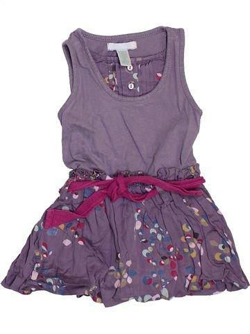 Robe fille OKAIDI violet 6 mois été #1397795_1