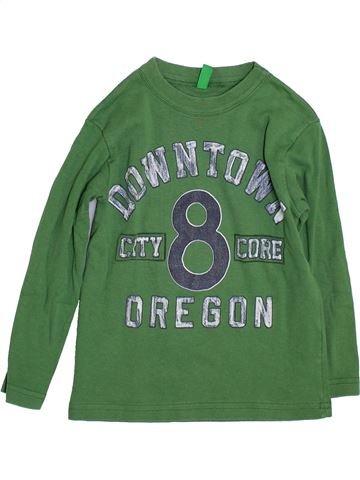 T-shirt manches longues garçon BENETTON vert 4 ans hiver #1397875_1