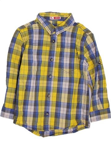 Chemise manches longues garçon DPAM marron 4 ans hiver #1397888_1