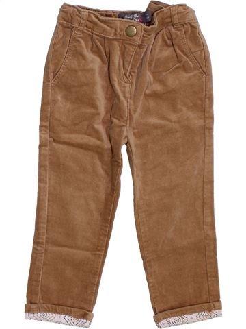 Pantalon fille ORCHESTRA marron 3 ans hiver #1397940_1