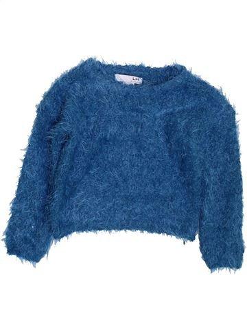 Pull fille LH BY LA HALLE bleu 3 ans hiver #1397959_1