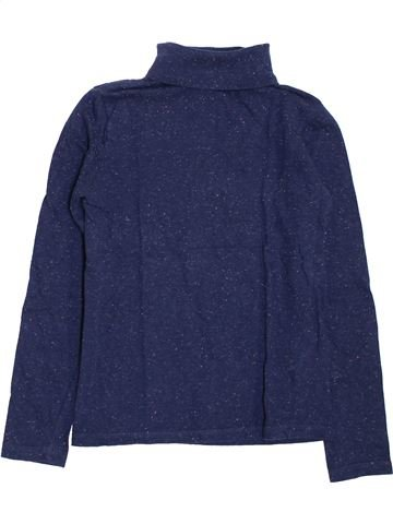 Camiseta de cuello alto niña MONOPRIX azul 10 años invierno #1398025_1