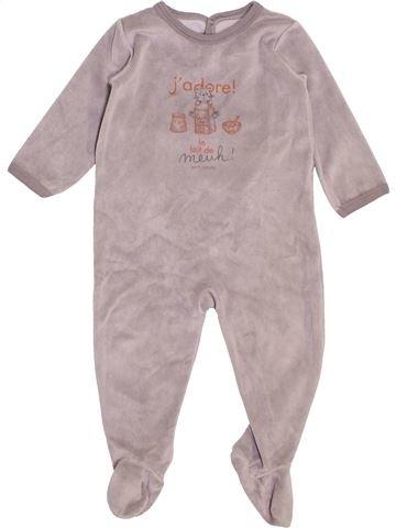 Pijama de 1 pieza unisex PETIT BATEAU rosa 18 meses invierno #1398036_1