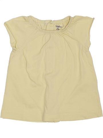 T-shirt manches courtes fille KIABI beige 6 mois été #1398037_1