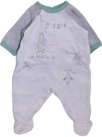 Pyjama 1 pièce garçon PETIT BATEAU gris 1 mois hiver #1398075_1