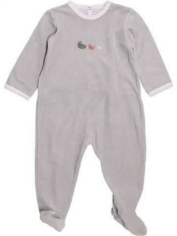 Pyjama 1 pièce garçon PETIT BATEAU gris 18 mois hiver #1398078_1