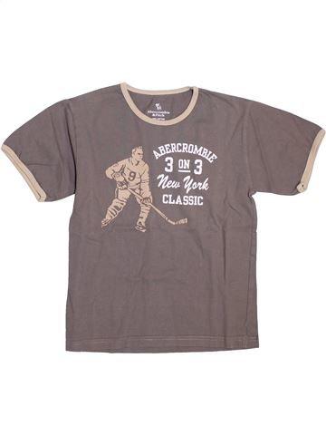 Camiseta de manga corta niño ABERCROMBIE ET FITCH marrón 12 años verano #1398256_1